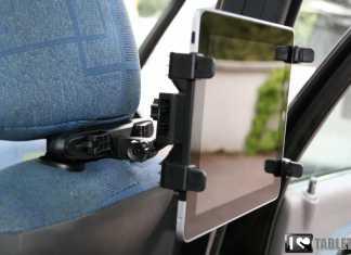 Support voiture pour iPad et tablettes tactiles : l'appui-tête iZen 5