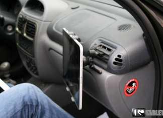 Support voiture pour iPad et tablettes tactiles : le support grille aérateur iPilot  9