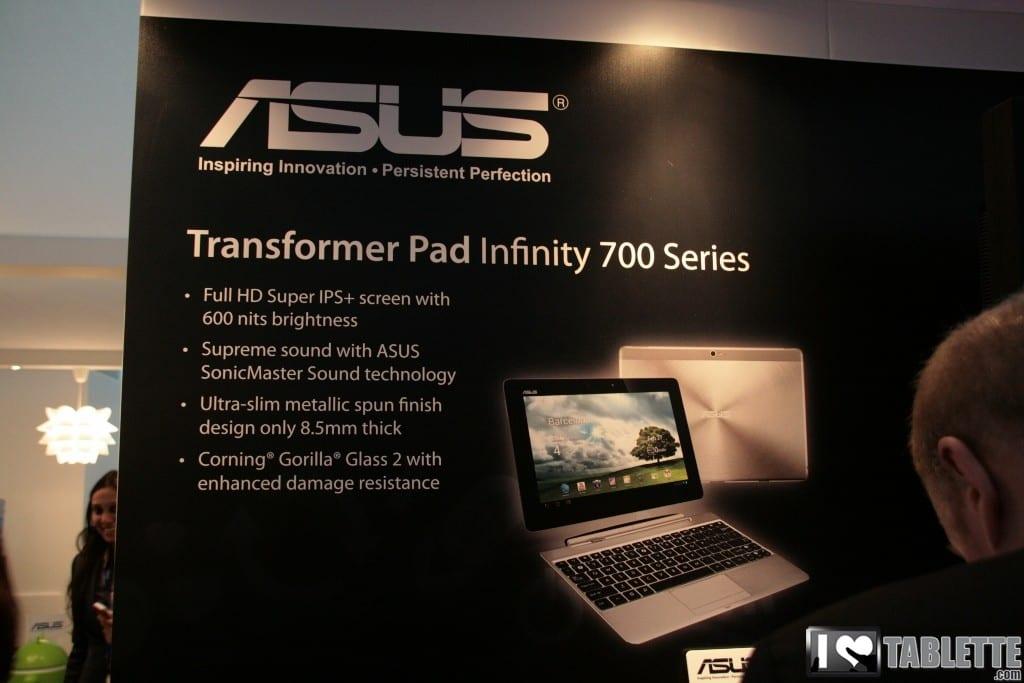 Tablettes Asus Transformer Pad Infinity, Padfone et TF300 : Prix et date de sortie en Europe