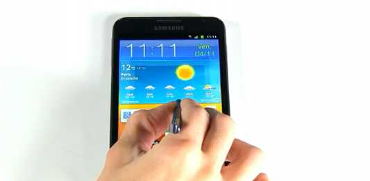 Tutoriel Samsung Galaxy Note : Prise en main du stylet S Pen