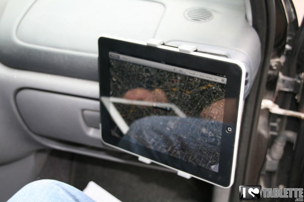 support voiture pour ipad et tablettes tactiles le support grille a rateur ipilot. Black Bedroom Furniture Sets. Home Design Ideas