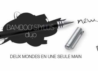 Bamboo Stylus duo : un stylet avec deux pointes, une pour tablette tactile et l'autre pour le papier