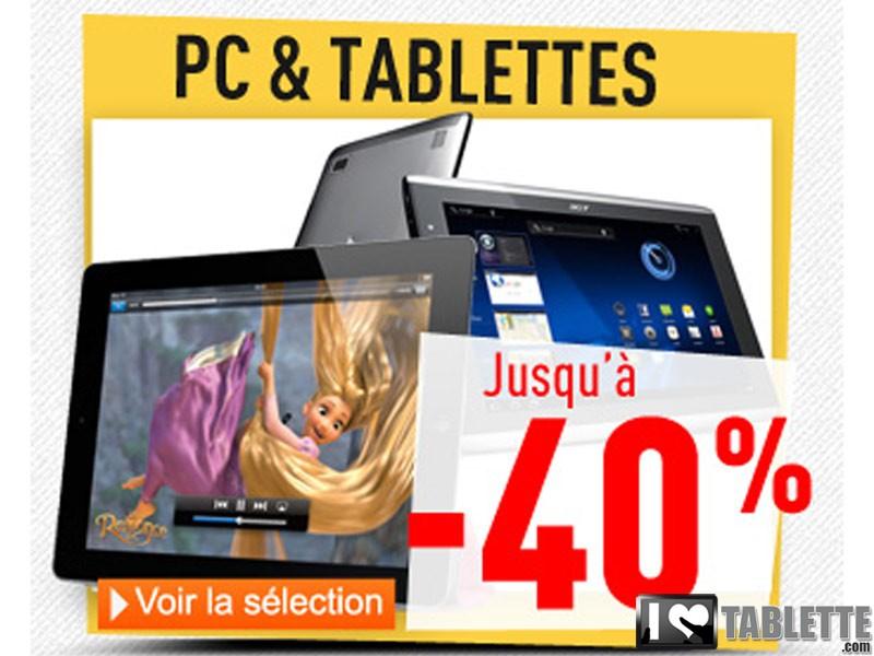 Déstockage de tablettes tactiles chez RueDuCommerce