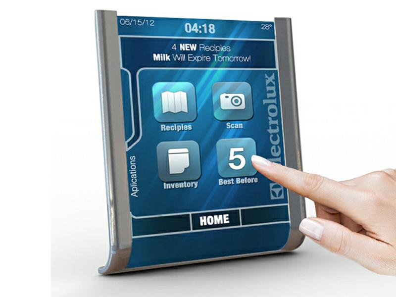 concept de tablette tactile pour la cuisine electrolux nous propose un concept original. Black Bedroom Furniture Sets. Home Design Ideas