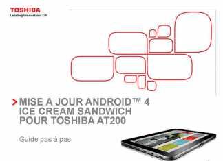 Toshiba AT200 : mise à jour vers Android 4 IceCream sandwich dès aujourd'hui 1