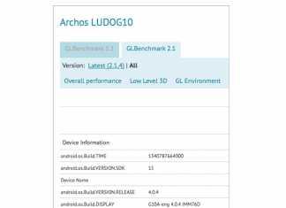 Archos LUDO G10 : une tablette console de jeu sous Android 4