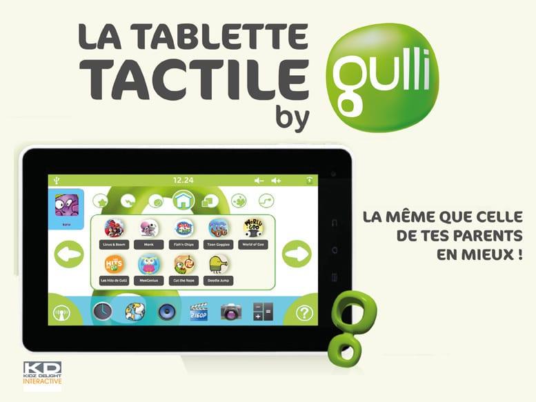 Tablette tactile by Gulli : une tablette Android pour les enfants dès la rentrée