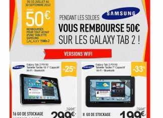 Promos sur les Samsung Galaxy Tab 2 chez RueDuCommerce.com