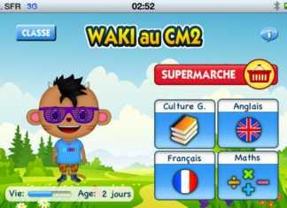 """Waki, l'application """"cahier de vacances"""" sur tablette iPad 2"""