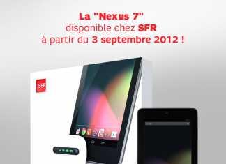 Forfait tablette : SFR vendra la tablette Google Nexus 7 à partir de 9,90€ le 3 septembre