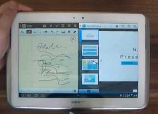 Vidéo présentant le multitâche sur la tablette Samsung Galaxy Note 10.1 1
