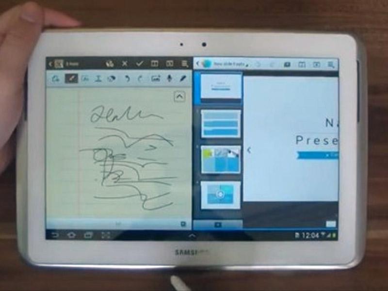 Vidéo présentant le multitâche sur la tablette Samsung Galaxy Note 10.1