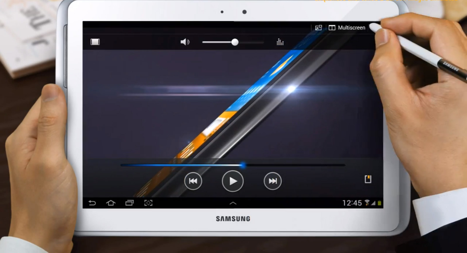 Samsung annonce la sortie officielle de la tablette galaxy for Tablette samsung