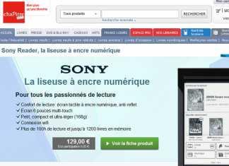Sony s'associe à Chapitre.com pour distribuer des eBooks Français 2