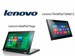 Lenovo présente deux nouvelles tablettes sous Windows 8 : la ThinkPad tablet 2 et la IdeaPad Yoga 1