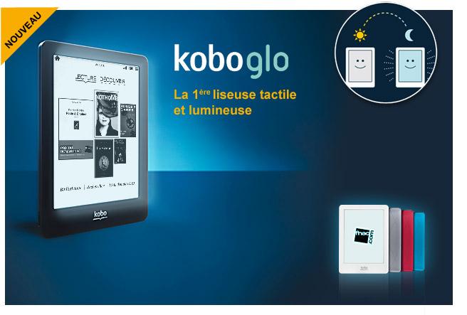 Fnac Koboglo : la première liseuse tactile et lumineuse disponible en pré-commande