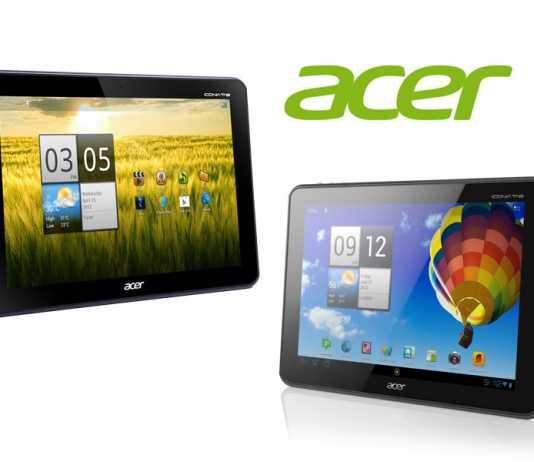 Acer annonce les mises à jour des tablettes Iconia Tab A210 et A510