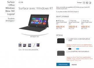 Tablettes Surface : comparatif des versions Windows 8 RT et Windows 8 Pro 1