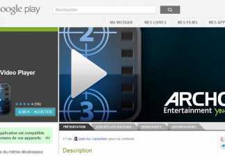 "Archos lance son application ""Archos vidéo"" sur Google Play 2"