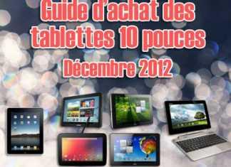 Noël 2012 : Les meilleures tablettes tactiles au format 10 pouces 7