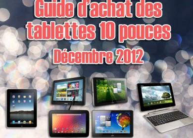 Noël 2012 : Les meilleures tablettes tactiles au format 10 pouces