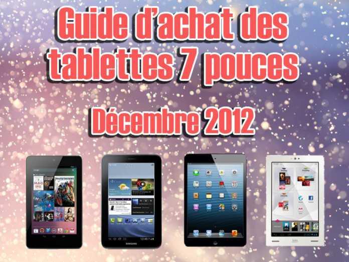 Noël 2012 : Les meilleures tablettes tactiles au format 7 pouces 3