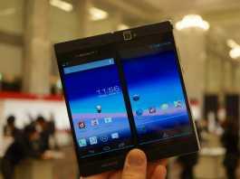 NEC Media W, un smartphone proposant un double écran proposé au Japon 6