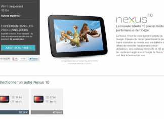 La tablette Google Nexus 10 est à nouveau disponible