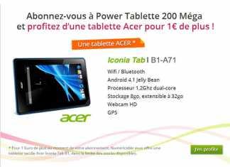 Numéricable propose la tablette Acer Iconia Tab B1 pour 1 € ! 2