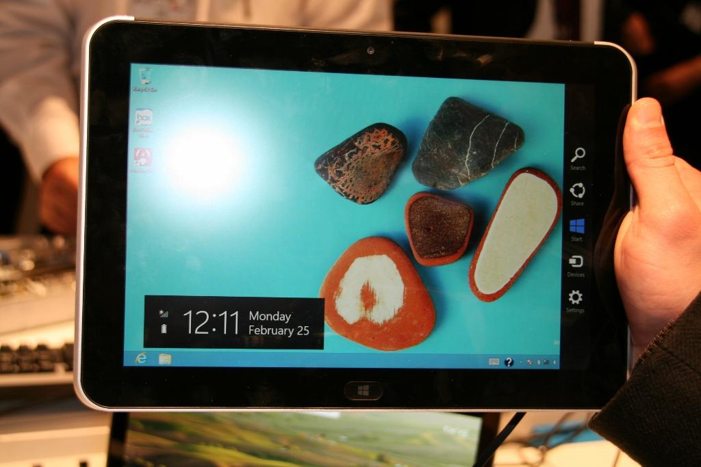 [MWC 2013] Prise en main de la tablette HP ElitePad sous Windows 8