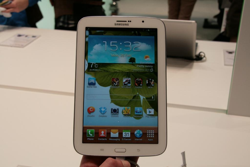 [MWC 2013] Prise en main de la tablette Samsung Galaxy Note 8.0