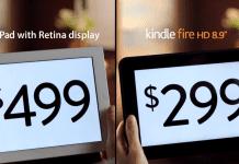 Quelle est LA différence entre la tablette Amazon Kindle Fire et l'iPad Retina ? 1