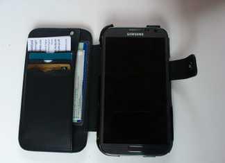 Test housse en cuir de protection Norêve pour Samsung Galaxy Note 2  12