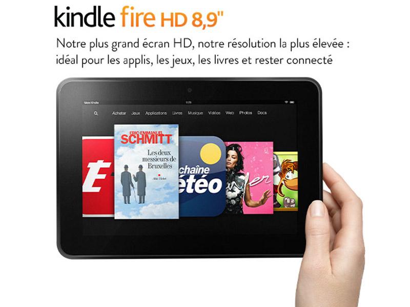La tablette Amazon Kindle Fire HD au format 8.9 pouces est disponible en France