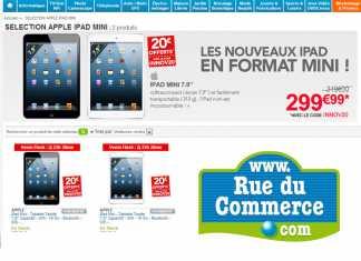 Promotion tablette Apple : l'iPad Mini proposée à 299 € chez Rue du Commerce
