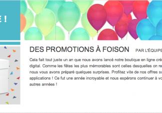 Des promotions pour le premier anniversaire du Google Play Store. 1