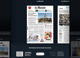 "L'application iPad du Monde innove et propose le ""Journal Tactile enrichi"" 1"