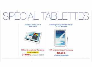 La Samsung Galaxy Tab 2 10.1 à 319,90 € à la Fnac