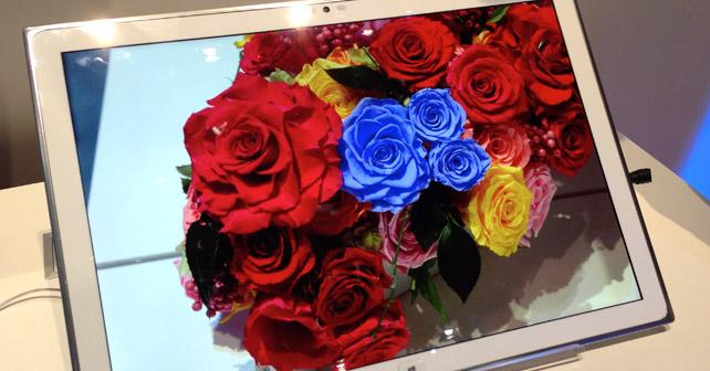 Un prototype de tablette à écran 4k chez Panasonic