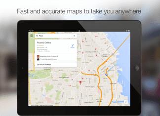 La nouvelle version de Google Maps disponible sur iPad