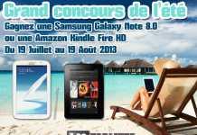 Concours : Gagnez la tablette Samsung Galaxy Note 8.0 ou la Amazon Kindle Fire HD avec iLoveTablette.com