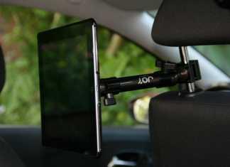 Test accessoire pour tablette iPad : support fixation appuie-tête JoyFactory  9