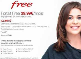"""Free mobile propose un forfait """"tout compris"""" à 39,99 € sur vente-privée.com"""
