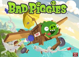 Aidez les Bad Piggies à voler les oeufs sur tablettes  1