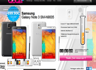 Promo : Samsung Galaxy Note 3 à 699€ au lieu de 749€ uniquement aujourd'hui !