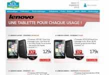 [Promo] RueDuCommerce propose les tablettes Lenovo A1000, A3000 et S6000 avec 30 Euros de remboursement