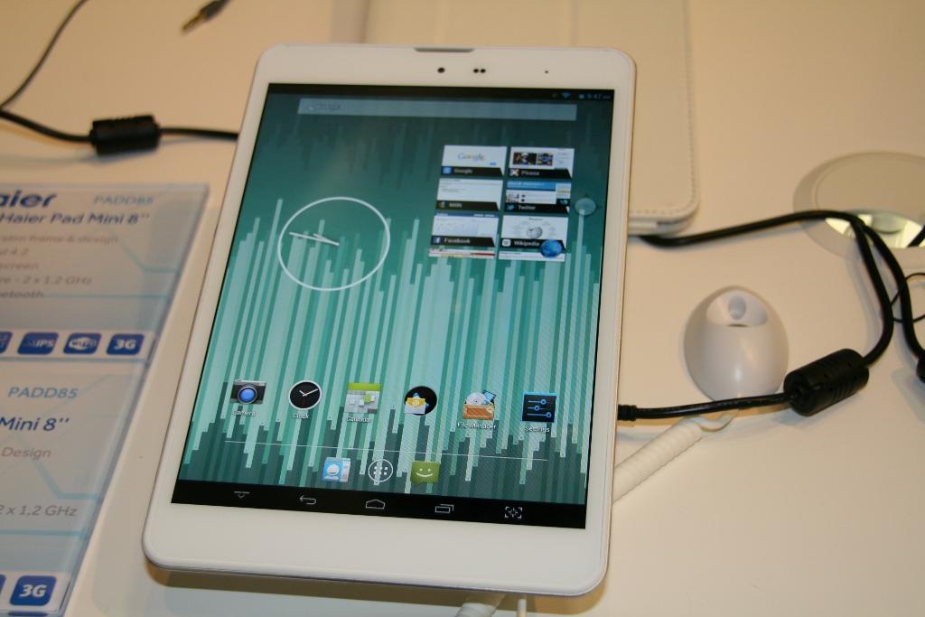 IFA 2013 : Haier présente la Haier Pad Mini 8 sous Android 4.2, prise en main, photo et vidéo