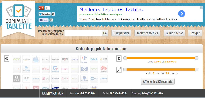 ComparatifTablette.com : iLoveTablette lance la V2, une nouvelle façon de comparer les tablettes !
