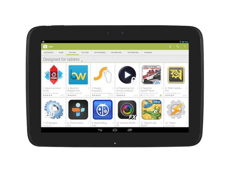 Google Play propose de mettre en avant les applications dédiées aux tablettes tactiles