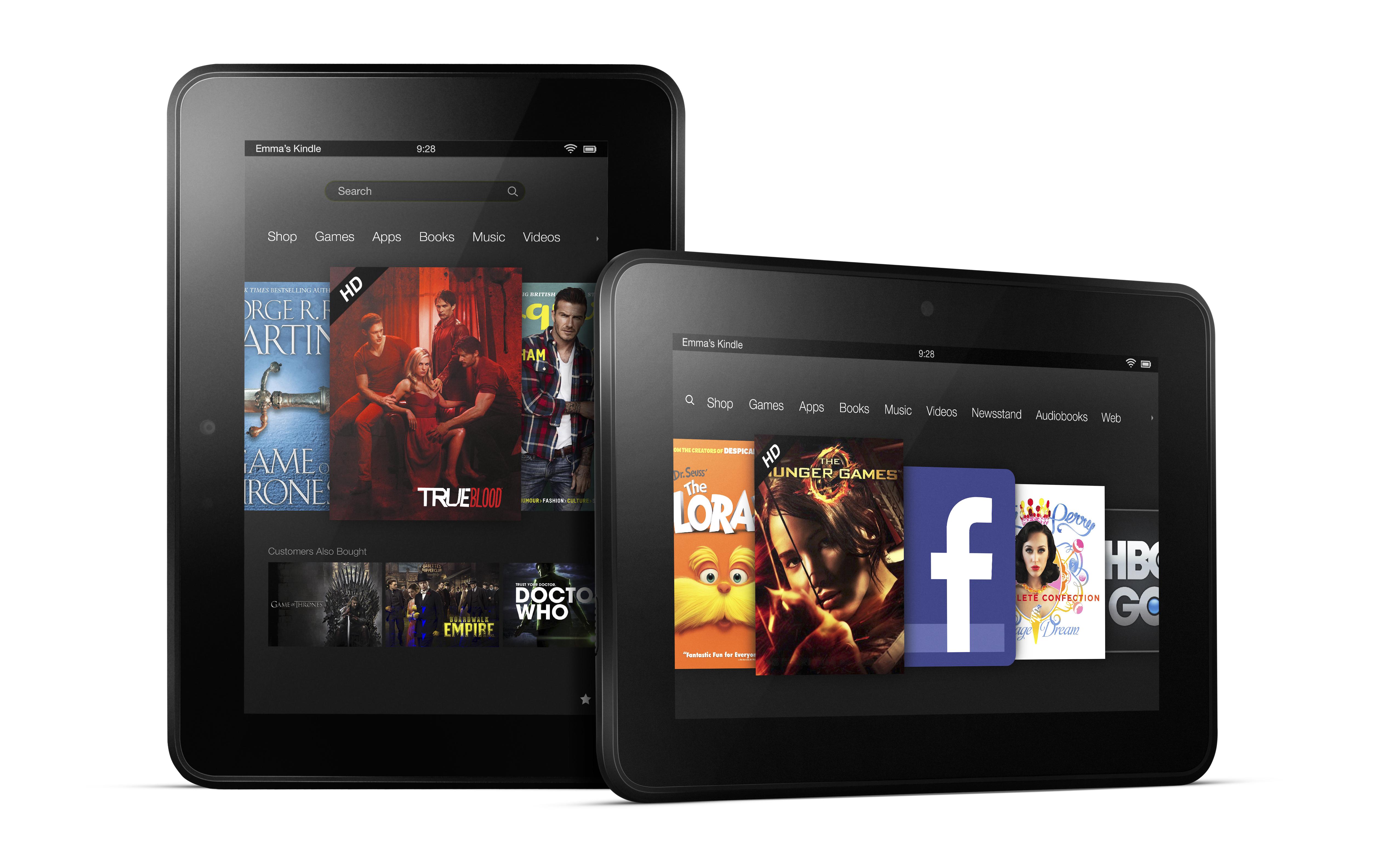 Vous pouvez acheter les nouvelles tablettes Amazon Kindle Fire HDX et Fire HD !